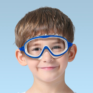Children Wide Frame Swimming Goggles - Blue