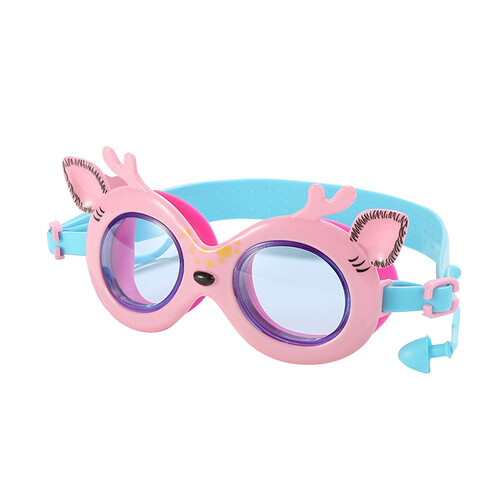 Cute Lil Deer Goggles With Ear Plugs - Pink