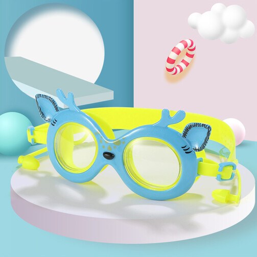 Cute Lil Deer Goggles With Ear Plugs - Blue