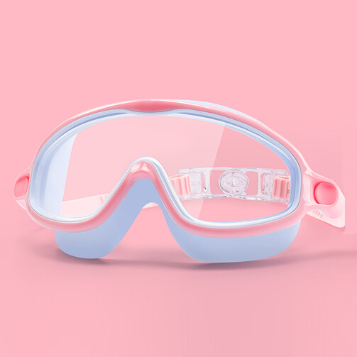 Children Wide Frame Swimming Goggles - Pink / Purple