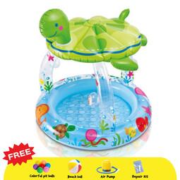 INTEX Sea Turtle Sunshade Inflatable Baby Pool