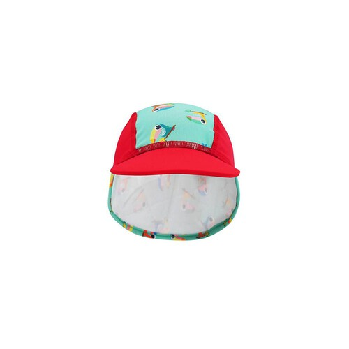 [Summer Paradise] Legionnaire Hat - Red / Toucan