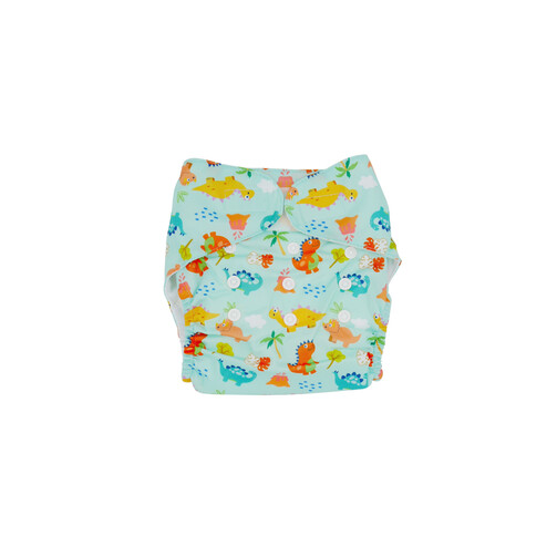 [Online Esxlusive] 2-in-1 Reusable Swim Diaper / Cloth Diaper - Dino