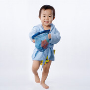 Premium Bamboo Hooded Bathrobe - Blue