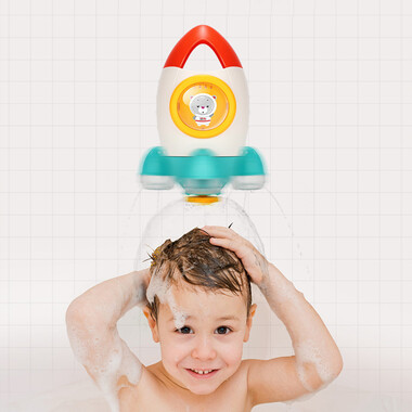 Toddler Fun Bath Rocket Rotating Water Spray Toy