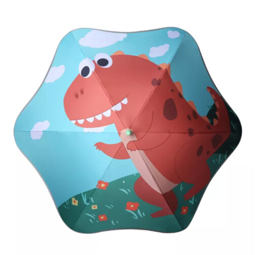 Premium Quality Toddler Anti-Poke Safe Curve Umbrella - Dino World